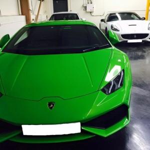 Lamborghini Huracan front ( green )
